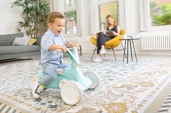 The development of your child begins with our sleek & ergonomic BERG GO2 go-kart. Children from the age of 10 months learn to scoot first with the pedals folded up and before you know it you will be able to unfold the pedals in order for your child to experience pedal go karting for the very first time